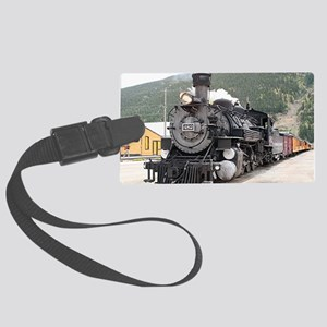 Steam train engine Silverton, Co Large Luggage Tag
