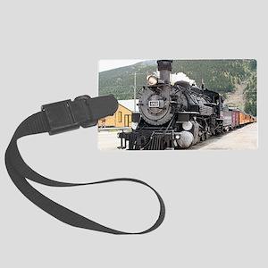 Steam train engine Silverton, Co Large Luggage Tag