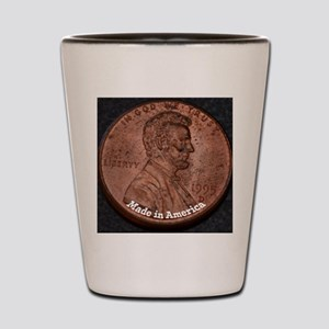 Penny Made in America Shot Glass