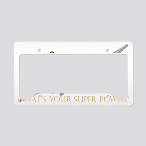 Catholic superpower License Plate Holder