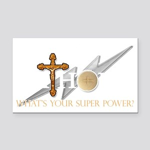 Catholic superpower Rectangle Car Magnet