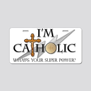 Catholic Aluminum License Plate