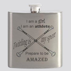 Twirling Athlete Flask