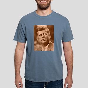 John F. Kennedy Sepia Tone Ash Grey T-Shirt