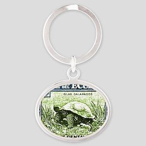 1936 Ecuador Galapagos Tortoise Post Oval Keychain