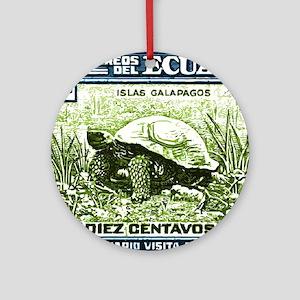 1936 Ecuador Galapagos Tortoise Pos Round Ornament