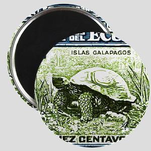 1936 Ecuador Galapagos Tortoise Postage Sta Magnet