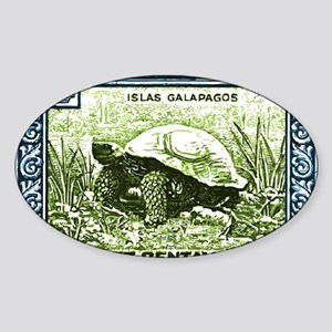 1936 Ecuador Galapagos Tortoise Pos Sticker (Oval)