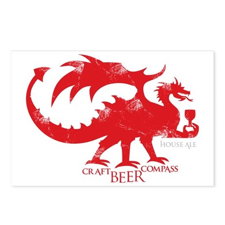 Dragon - Craft Beer Compa Postcards (Package of 8)