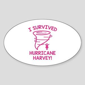 Hurricane Harvey Survivor Sticker (Oval)