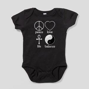 Peace Love Life Balance square II Baby Bodysui