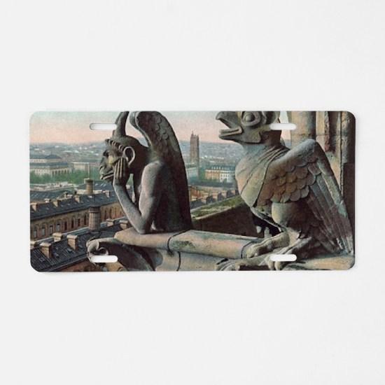 Gargoyles of Notre Dame Aluminum License Plate