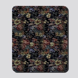 Blue Floral Tapestry Mousepad