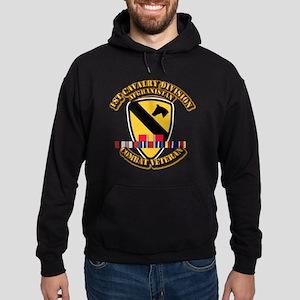 Army - 1st Cav Div w Afghan Svc Hoodie (dark)