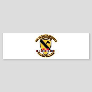 Army - 1st Cav Div w Afghan Svc Sticker (Bumper)