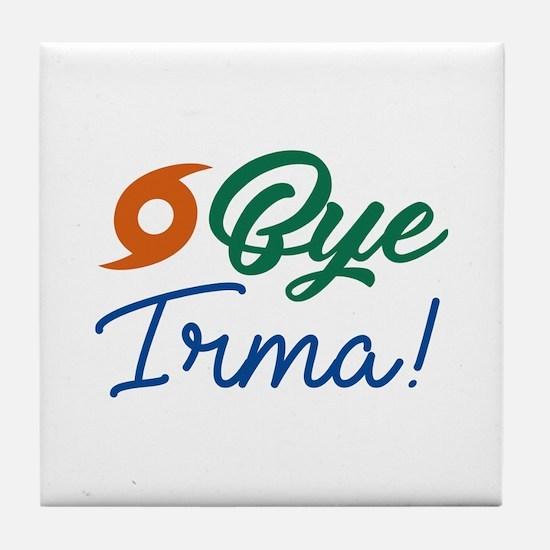Bye Irma Tile Coaster