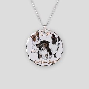 Cardigan corgi family Necklace Circle Charm