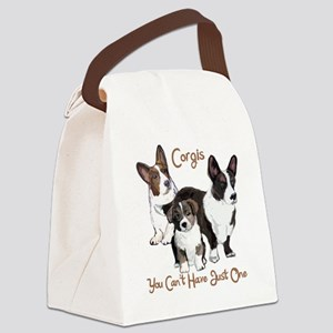 Cardigan corgi family Canvas Lunch Bag