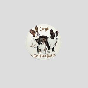 Cardigan corgi family Mini Button