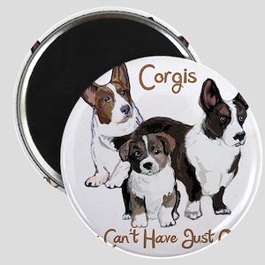 Cardigan corgi family Magnet