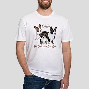Cardigan corgi family Fitted T-Shirt
