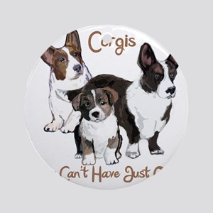 Cardigan corgi family Round Ornament