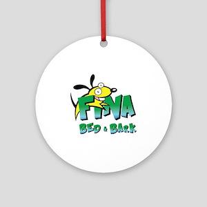 Fina Logo Round Ornament