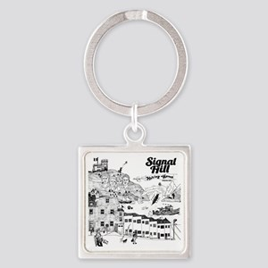 Making Waves Cover Art (vintage) Square Keychain