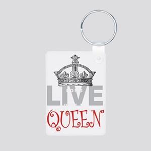 Long Live the QUEEN Aluminum Photo Keychain
