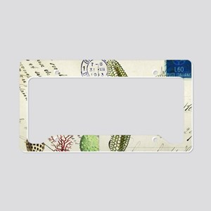 vintage French postcard with  License Plate Holder