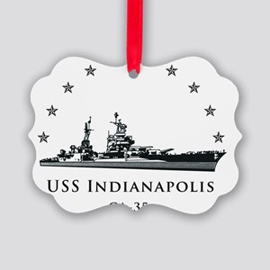 Indy Circle No Border Picture Ornament