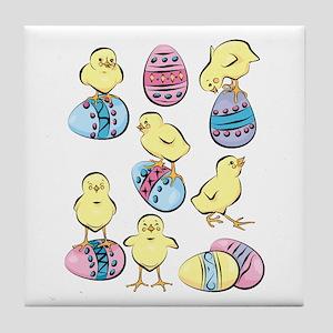 HAPPY CHICKS Tile Coaster