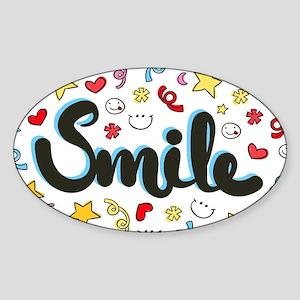 Smile Happy Face Heart Star Sticker