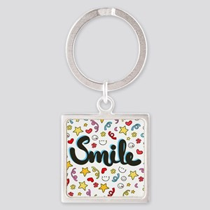 Smile Happy Face Heart Star Keychains