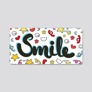 Smile Happy Face Heart Star Aluminum License Plate