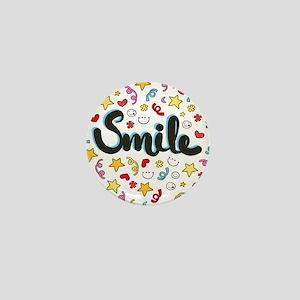 Smile Happy Face Heart Star Mini Button