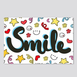 Smile Happy Face Heart Star Postcards (Package of