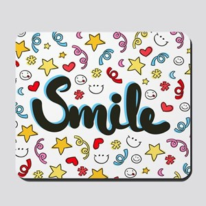 Smile Happy Face Heart Star Mousepad