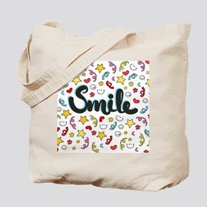 Smile Happy Face Heart Star Tote Bag