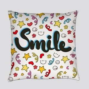 Smile Happy Face Heart Star Everyday Pillow