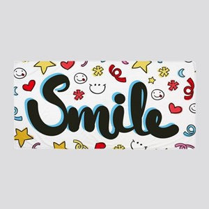 Smile Happy Face Heart Star Beach Towel