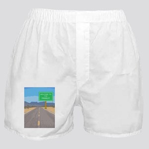 Welcome To The Family Greeting Card Boxer Shorts