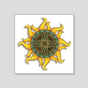 "Mosaic Sun Square Sticker 3"" x 3"""