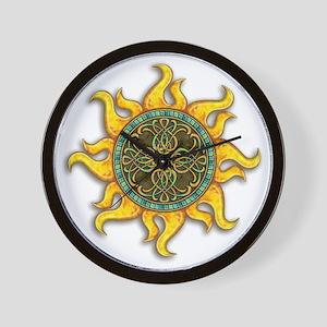 Mosaic Sun Wall Clock