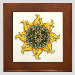 Mosaic Sun Framed Tile