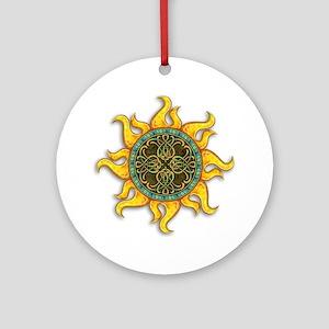 Mosaic Sun Round Ornament