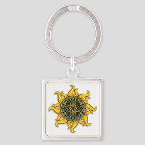 Mosaic Sun Square Keychain