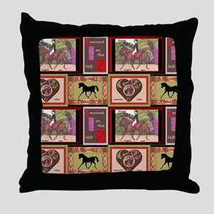 Dressage Horses Throw Pillow