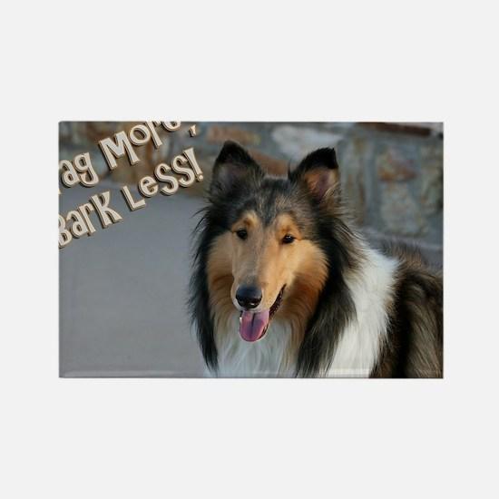 Wag more, Bark Less Rectangle Magnet