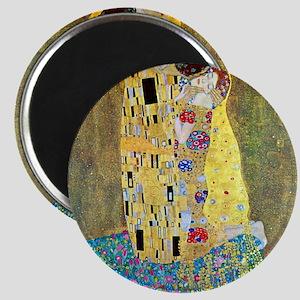 The Kiss by Gustav Klimt, Vintage Art Nouve Magnet